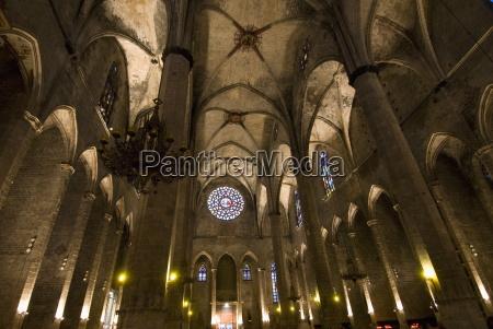 catalan gothic church of santa maria