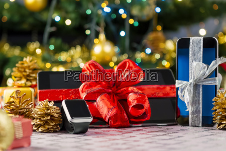 tablet pc smartphone and smartwatch for