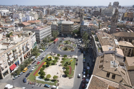 view from tower el miguelet plaza