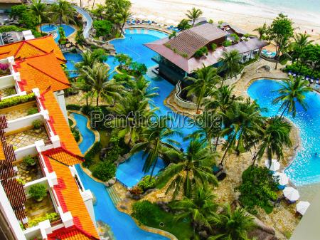 luxury tropical hotel resort