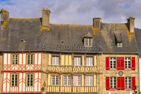half timbered houses old town treguier