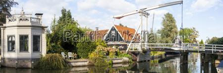 drawbridge over a canal in edam