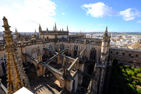 seville cathedral seen from giralda bell