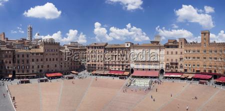 piazza del campo with santa maria