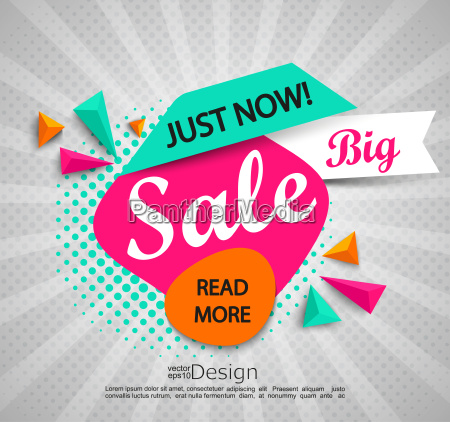 big sale banner with halftone