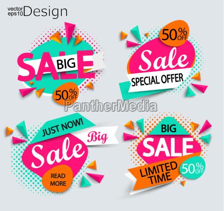 sale set of bright modern