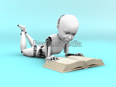 3d rendering of a robot child