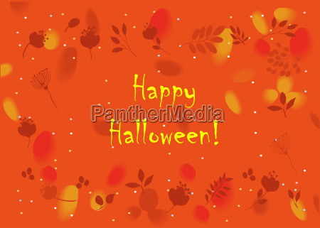 happy halloween floral card