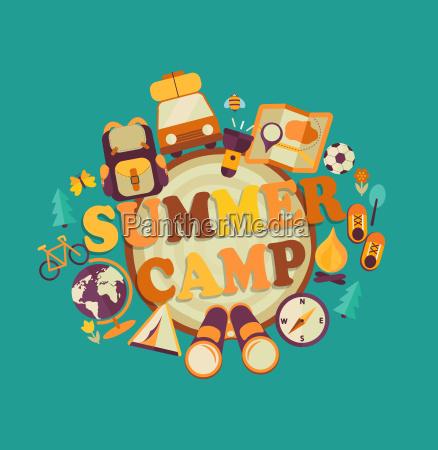 summer camp vector