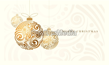 vector christmas greeting card with abstract