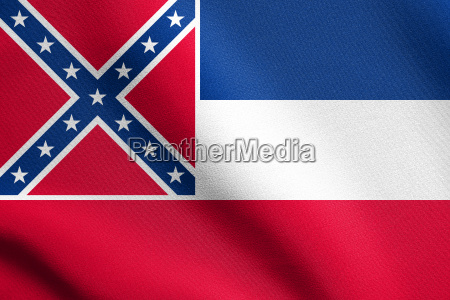 flag of mississippi waving with fabric