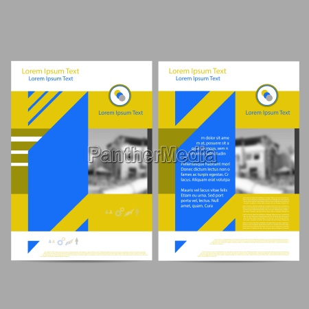 annual report leaflet brochure flyer template