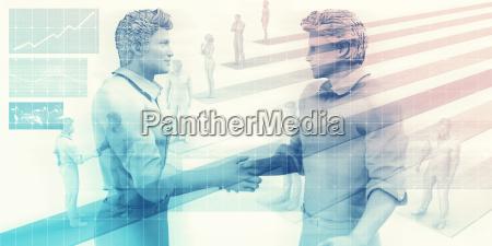business handshake on digital background
