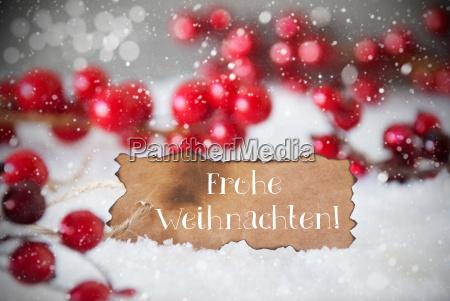 burnt label snow snowflakes frohe weihnachten