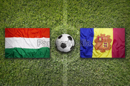 hungary vs andorra flags on soccer