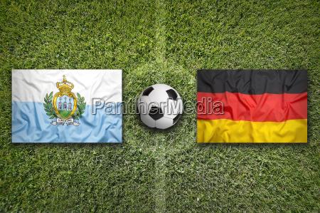 san marino vs germany flags on