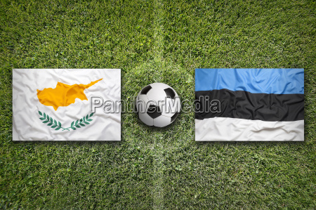 cyprus vs estonia flags on soccer