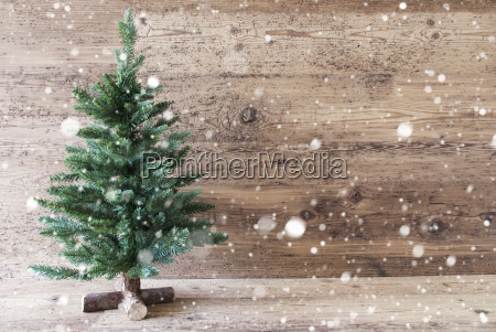 christmas tree aged wooden background copy