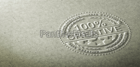3d illustration of an embossed stamp