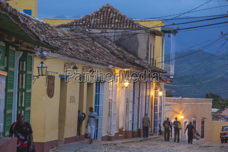 street scene in historical center trinidad