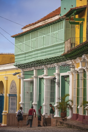colourful houses in historical center trinidad