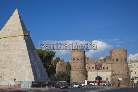 the pyramid of cestius and st