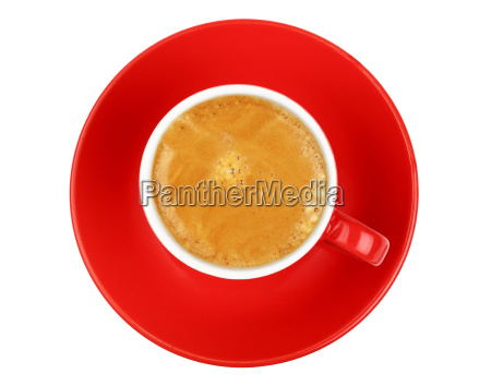 one espresso coffee in red cup