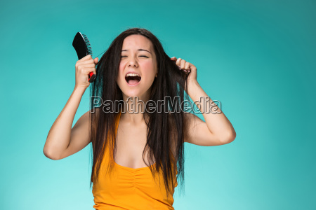 frustrated, young, woman, having, a, bad - 19115575