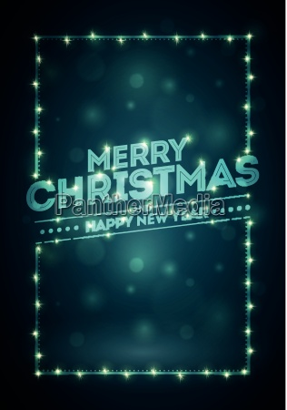 christmas frame with lights and dark
