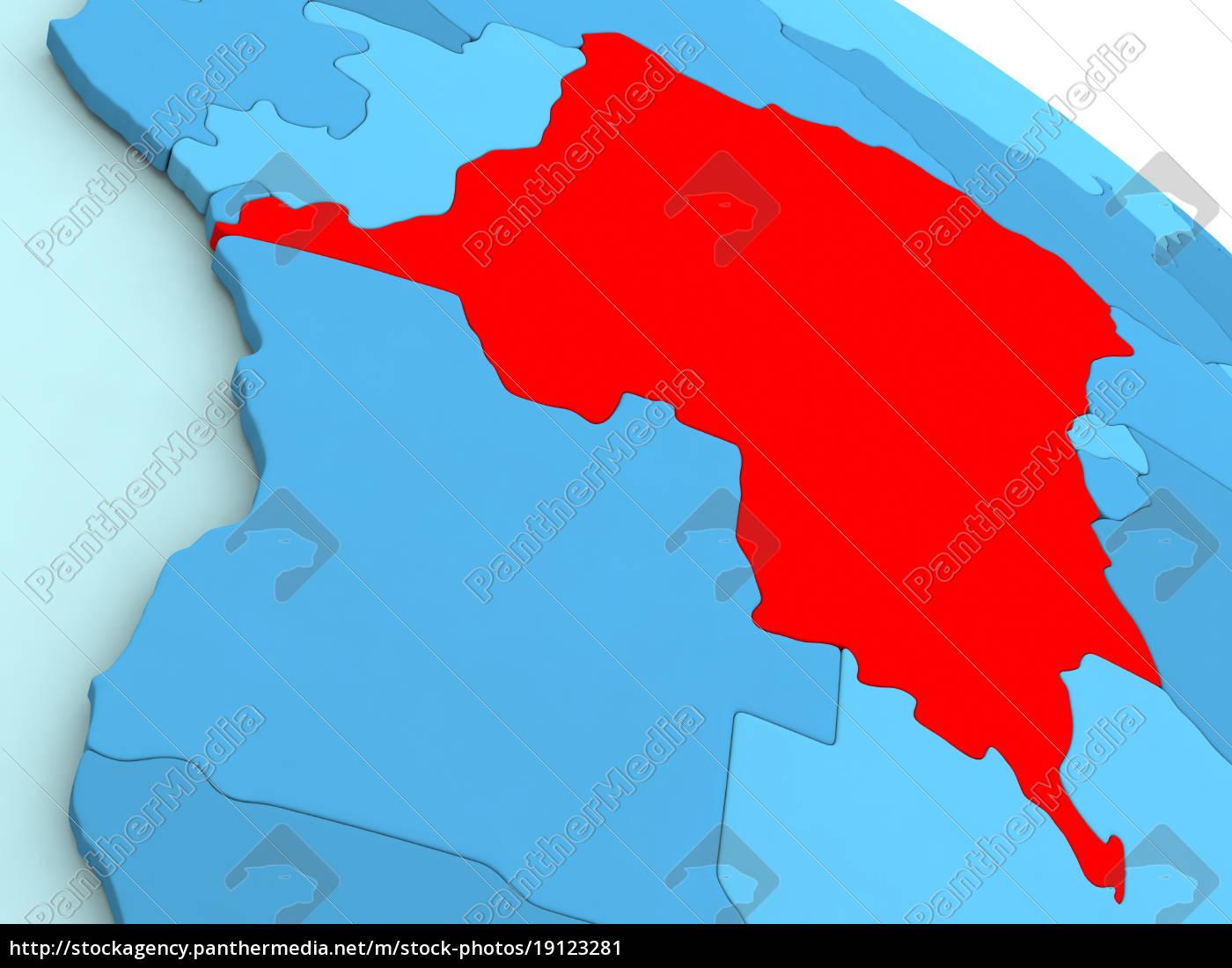 democratic, republic, of, congo, in, red - 19123281