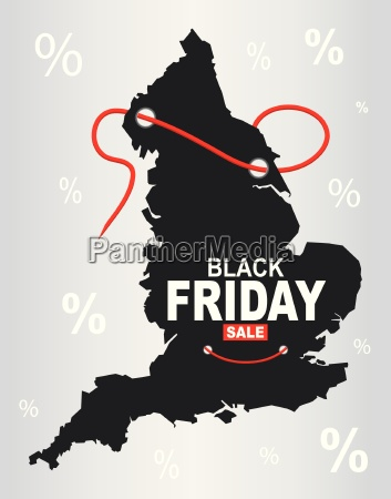 black friday map england