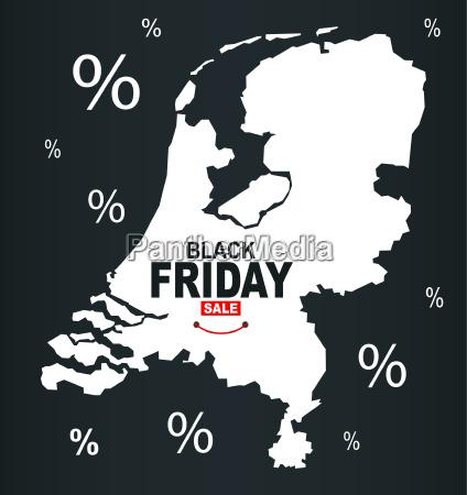 black friday map netherlands