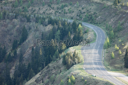 road on high alp