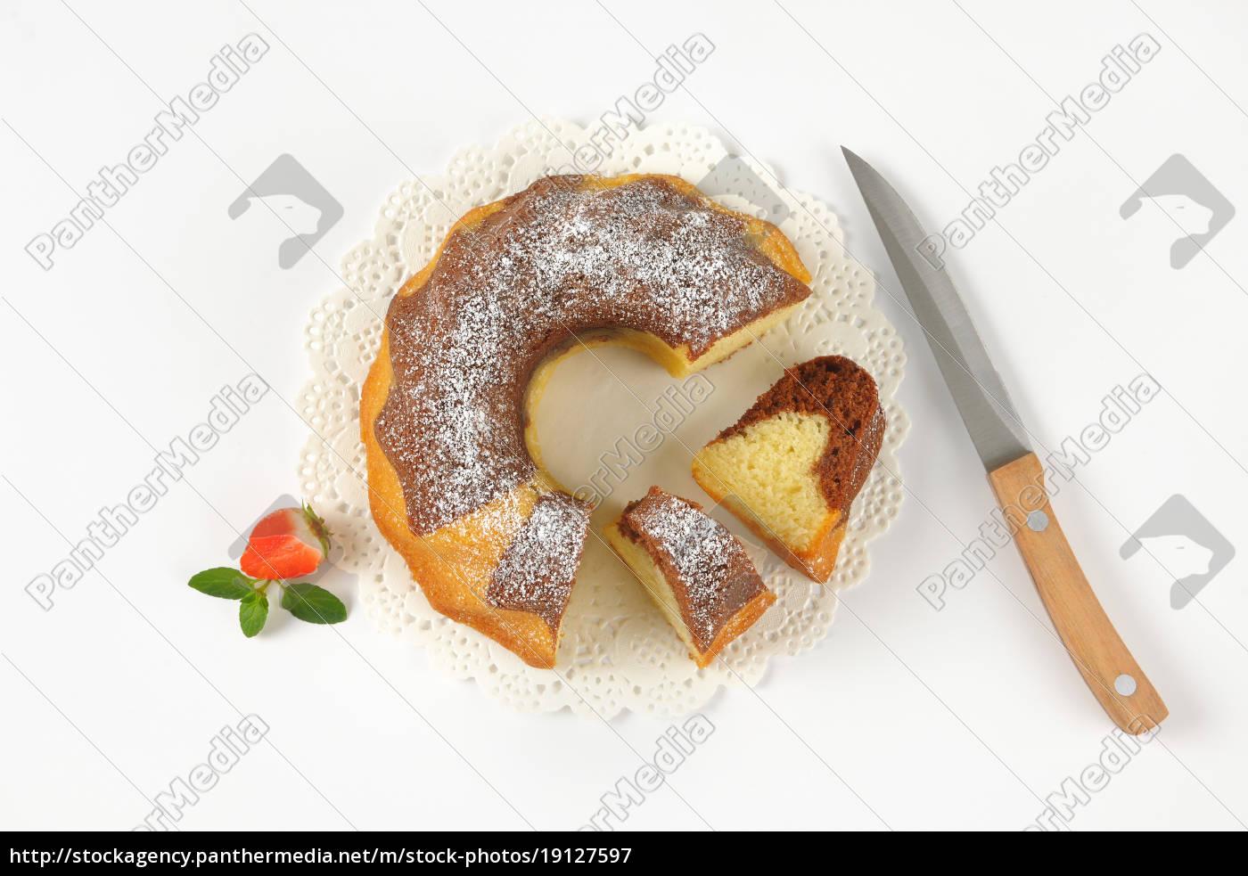 sliced, marble, bundt, cake - 19127597