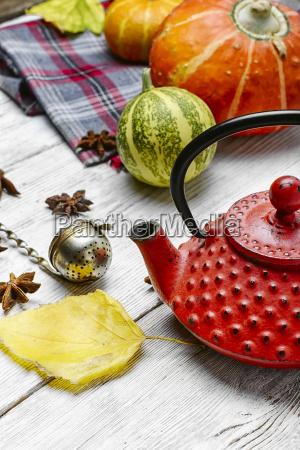 still, life, with, autumn, tea - 19127931