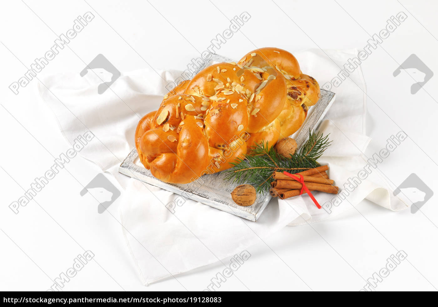 christmas, sweet, braided, bread - 19128083