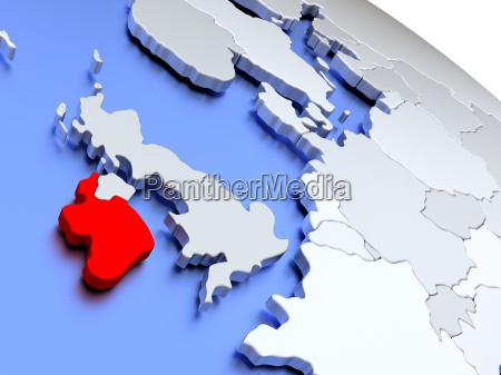 ireland on world map