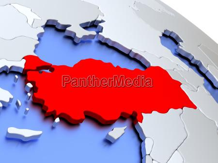 turkey on world map