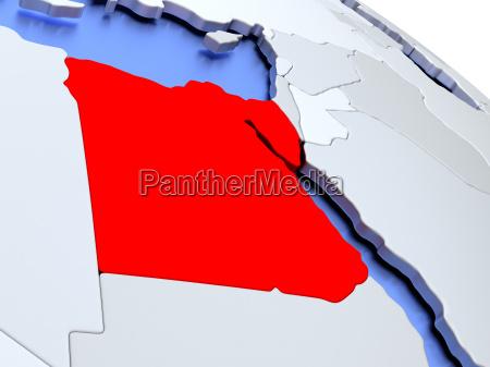 egypt on world map
