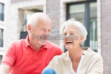 happy seniors couple