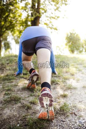 men, stretching, before, running - 19131559