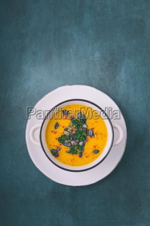 pumpkin, soup, with, pumpkin, seeds, and - 19134607
