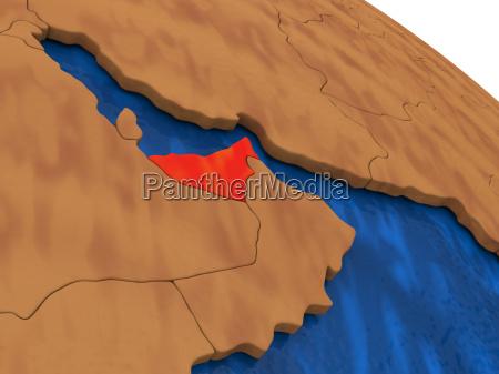 united, arab, emirates, on, wooden, globe - 19134967