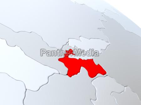 tajikistan on world map