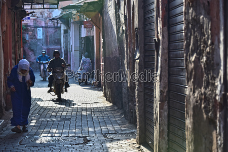 street of marrakesh medina morocco