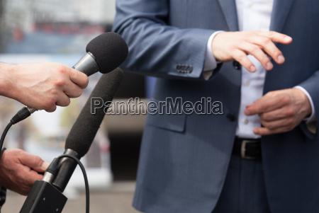 media interview press conference spokesperson