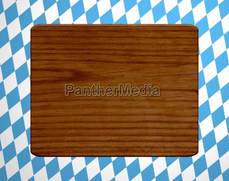 wooden board on diamond pattern
