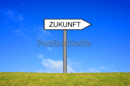 signpost showing future