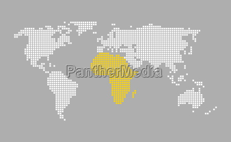 modern pixel world map gray orange