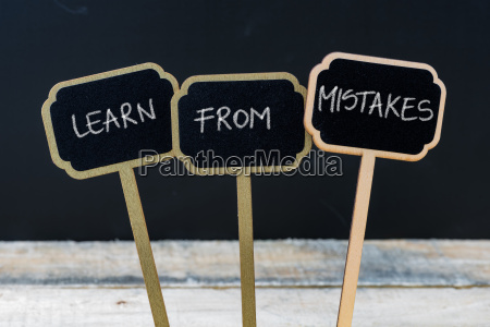 motivational message learn from mistakes written
